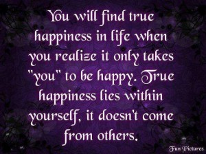 happiness lies within